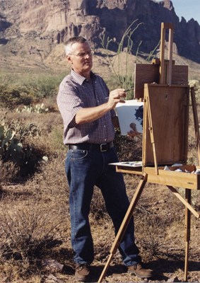 Chuck- painting- outdoors