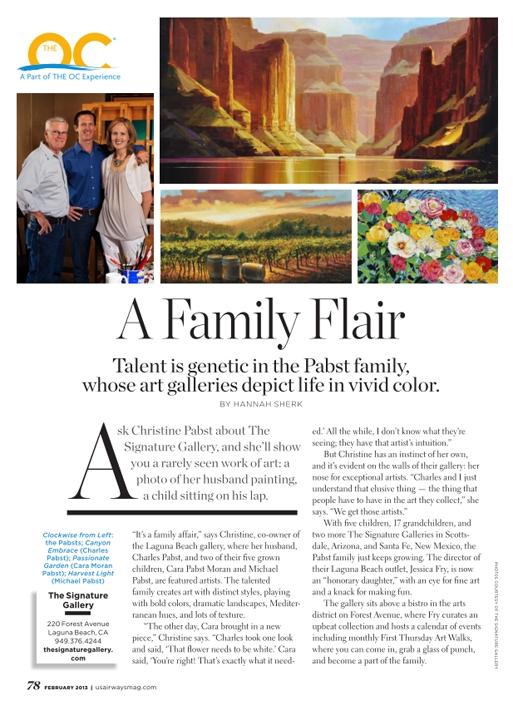 US Airways Magazine Orange County
